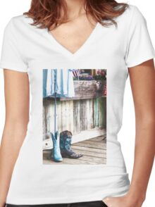 Made For Walkin' Women's Fitted V-Neck T-Shirt