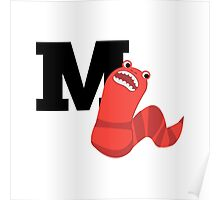 M is for Mongolian Death Worm Poster