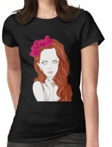 Flower Crowned Womens Fitted T-Shirt