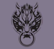 Cloud Strife's Wolf Emblem (Black) Kids Clothes