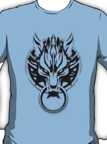 Cloud Strife's Wolf Emblem (Black) T-Shirt