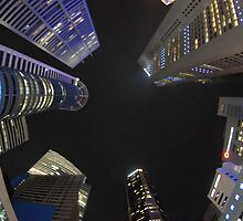 Raffles Plaza in Fisheye by Christian Eccleston
