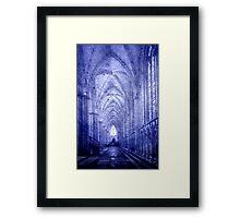 Minster in Blue Framed Print