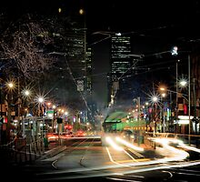 Bourke St, Melbourne, 9:25pm 20 July 2011 by Geoffrey Dunn