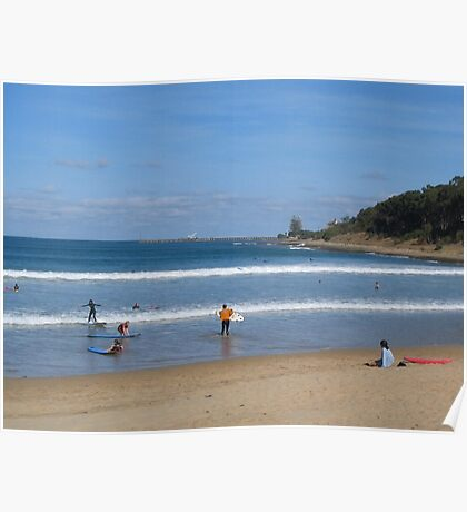 Surfing at Lorne Poster