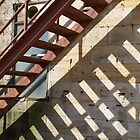 Stairs and shadows, Cockatoo Island by WCurrie