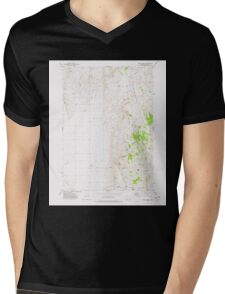 USGS Topo Map Oregon Mahon Creek 280625 1973 24000 Mens V-Neck T-Shirt
