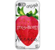 Watercolor strawberry iPhone Case/Skin