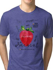 Watercolor strawberry Tri-blend T-Shirt