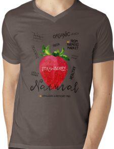 Watercolor strawberry Mens V-Neck T-Shirt