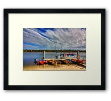 Little Boats Framed Print