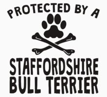 Protected By A Staffordshire Bull Terrier Kids Clothes