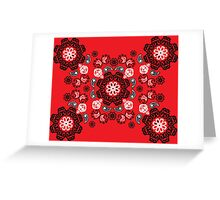Red Flame Bandana Greeting Card