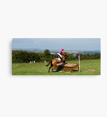 Jumping over food! panoramic view of the Firth of Forth Canvas Print
