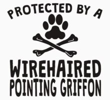 Protected By A Wirehaired Pointing Griffon Kids Clothes