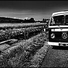 VW Camper By Stream by Paul Shellard