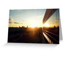 sunset on east harlem Greeting Card