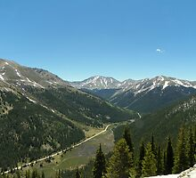 The View from Independence Pass by David  Hughes