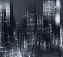 Hustle and bustle of the city by Angela King-Jones