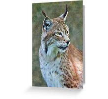 Siberian Lynx Greeting Card