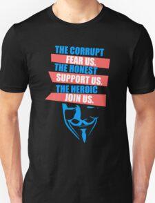 Anonymous Mask Slogan T-Shirt