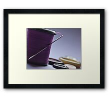 Needle and Thread with Buttons Framed Print