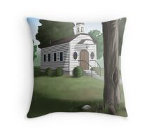 The Old Country Church Throw Pillow