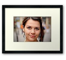Portrait Of A Stranger: 9 Framed Print