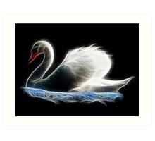 Medicine Wheel Totem Animals by Liane Pinel- Swan Art Print
