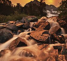 Gem Lakes Cascade Sunset by Nolan Nitschke