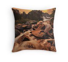 Gem Lakes Cascade Sunset Throw Pillow
