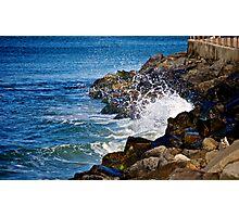 Crashing Waves on Rocks Photographic Print