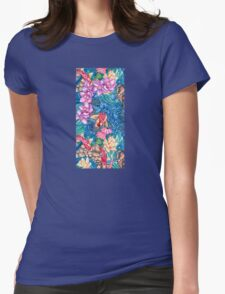 Orchid Splash Womens Fitted T-Shirt