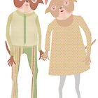 Pug love by EmmaIllustrator