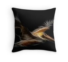 Medicine Wheel Totem Animals by Liane Pinel- Pelican Throw Pillow