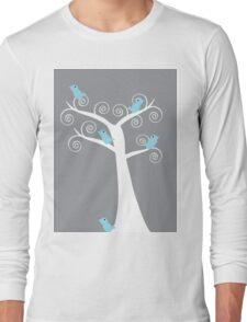5 blue birds (gray background) T-Shirt