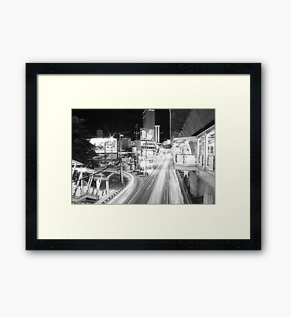 Bangkok: A Night on Sukhumvit - Night in Bangkok Framed Print