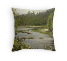 Winery River Throw Pillow