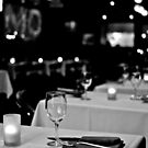 Restaurant in black and white by Lauren Neely