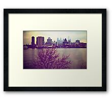 Vintage View of Philadelphia From Afar Framed Print