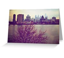 Vintage View of Philadelphia From Afar Greeting Card