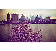 Vintage View of Philadelphia From Afar Photographic Print