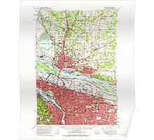 USGS Topo Map Washington Portland 243248 1961 62500 Poster