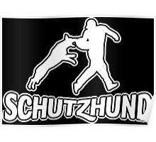 Schutzhund bite the helper Poster