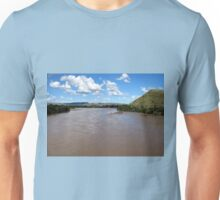 The Orange River (Afrikaans/Dutch: Oranjerivier), South Africa.  Unisex T-Shirt