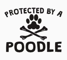 Protected By A Poodle Kids Clothes