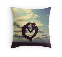 hands on our hearts, hearts in our sky Throw Pillow