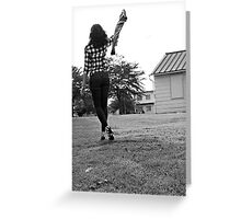 Girl in Plaid Greeting Card