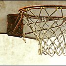 Vintage Textured Basketball Goal by Lauren Neely