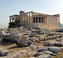 The Temple of Erechteion in Athens by HELUA